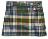 Ralph Lauren Pleated Madras Cotton Skirt