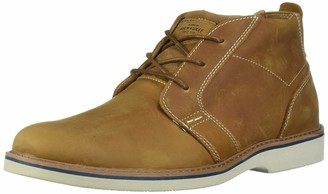 Nunn Bush Men's Bromley Plain Toe Chukka Boot Suede Leather with Comfort Gel and Memory Foam