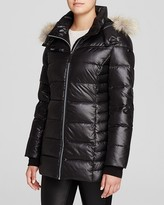 Andrew Marc Paris Fur Trim Puffer Coat