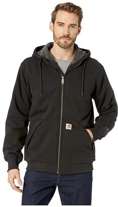 Carhartt Rain Defender(r) Rockland Sherpa Lined Full Zip Hooded Sweatshirt (Black) Men's Sweatshirt