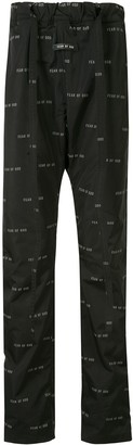 Fear Of God Logo Print Trousers