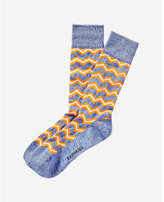 Express marled zigzag dress socks