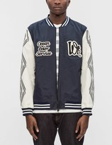 White Mountaineering Embroidered Emblem Saitos Taffeta 3L Varsity Jacket