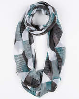 Le Château Abstract Print Silk-Like Infinity Scarf