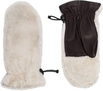 Agnelle Cosetta two-tone gloves