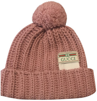 Gucci Pink Wool Hats