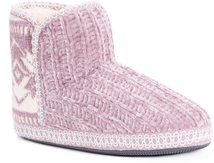 Muk Luks Womens Karter Memory Foam Bootie Slippers