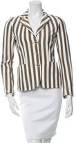 Moschino Cheap & Chic Moschino Cheap and Chic Long-Sleeve Striped Blazer w/ Tags