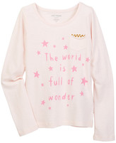 Joe Fresh Pocket Tee (Little Girls & Big Girls)