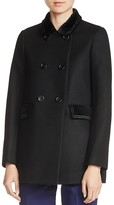 Maje Galakie Double-Breasted Short Coat