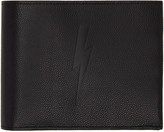 Neil Barrett Black Thunderbolt Bifold Wallet