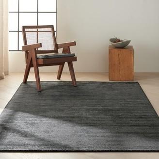 "Calvin Klein Sacramento Modern Hand-Knotted Black Area Rug Rug Size: Rectangle 5'6"" x 8'"