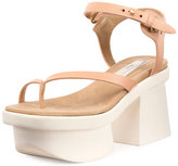 Stella McCartney Altea Faux-Leather Platform Sandal, Powder Rose