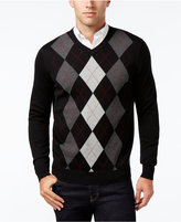 Club Room Men's Pima Cotton Argyle V-Neck Sweater, Only at Macy's