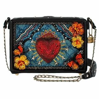 Mary Frances Day of the Dead Beaded Crossbody Handbag