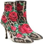 Dolce & Gabbana Lori printed ankle boots