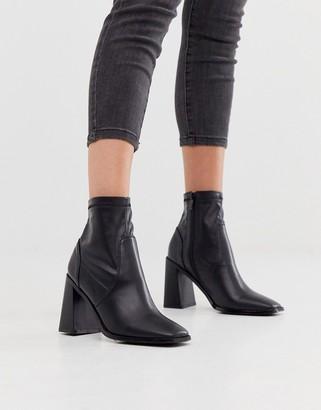 Raid Empire black square toe sock boots
