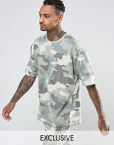 Other UK Oversized Camo T-Shirt In Heavyweight