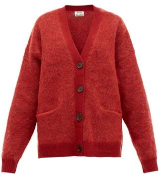 Acne Studios Rives Buttoned Cardigan - Womens - Burgundy