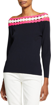 Milly Geo Cutout Off-The-Shoulder Top