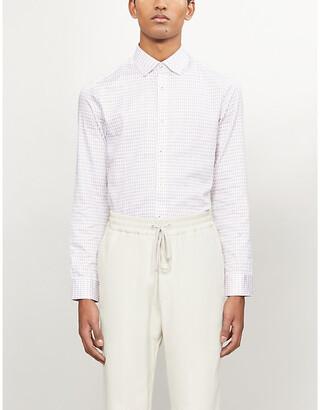 Ted Baker Rewrite geometric-print modern-fit cotton shirt