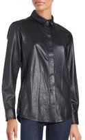 IRO Leather Long Sleeve Shirt