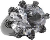 Noir Cat Woman Claw Ring (Gunmetal/Clear) - Jewelry