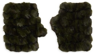 Jocelyn Mandy Faux Fur Fingerless Gloves