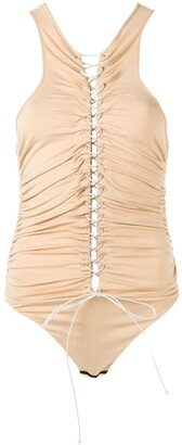 Unravel Project Lace-Up Front Top