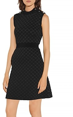 Sandro Many Quilted Lurex Knit Dress