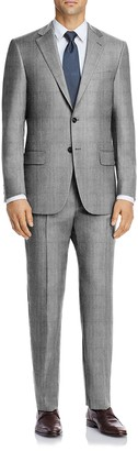 Hart Schaffner Marx Light Grey Pinstripe Two Button Notch Lapel New York Fit Suit