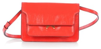 Marni Trunk Mini Leather Cross-body Bag - Orange