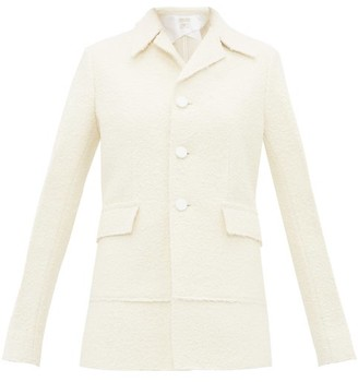 Bottega Veneta Single-breasted Boucle Jacket - Womens - Ivory