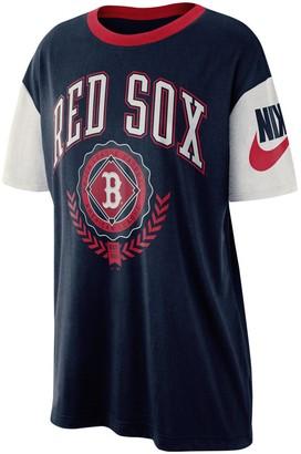 Nike Women's Navy Boston Red Sox Walk-Off Boycut T-Shirt