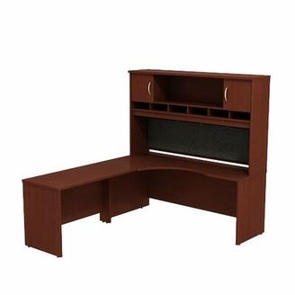 Bush Business Furniture Series C L-Shape Executive Desk with Hutch Color: Mahogany/Mahogany, Orientation: Left