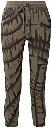 Twenty Montreal Hyper Reality Cropped Tie-dyed Cotton-blend Jacquard Track Pants