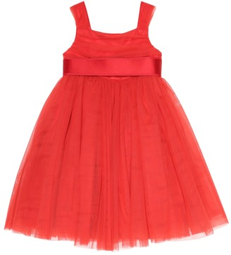 Dolce & Gabbana Kids Tulle-trimmed dress
