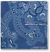 Turnbull & Asser Paisley-print Silk Pocket Square - Blue