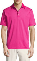 Peter Millar Crown Sport Halford Striped Performance Polo Shirt, Pink