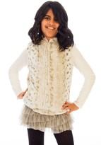 Limeapple Sport Faux Fur Vest (Little Girls & Big Girls)