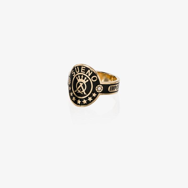 Foundrae 18K Yellow Gold Dream Cigar band diamond ring