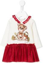 MonnaLisa teddy print dress