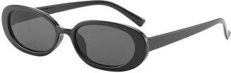 Toamen Sunglasses Toamen Unisex Fashion Small Frame Sunglasses Sale Vintage Retro Irregular Shape Sun Glasses Full UV400 Protection(F)