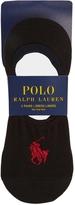 Polo Ralph Lauren Black Low-cut Cotton Blend Socks - Set Of Three