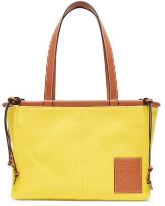 Loewe Cushion Small Canvas Tote Bag - Yellow