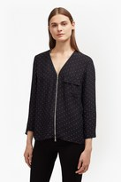 French Connection Belle Spot Crepe Blouse