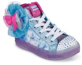 Skechers Twinkle Toes Shuffle Brights Light-Up High-Top Sneaker - Kids'