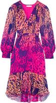 Matthew Williamson Printed silk-chiffon dress