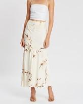 Shona Joy Horizon Ruched Bias Midi Skirt
