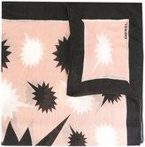 Diesel geometric print scarf